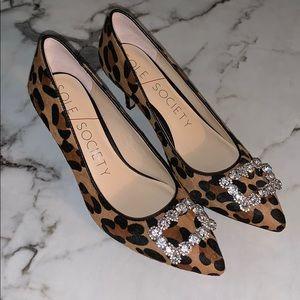 Sole Society Leopard Kitten Heel